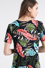Load image into Gallery viewer, Jostar Women's Stretchy Missy Dress Short Sleeve Print Plus, 704BN-SXP-W212