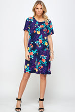 Load image into Gallery viewer, Jostar Women's Stretchy Missy Dress Short Sleeve Print Plus, 704BN-SXP-W301