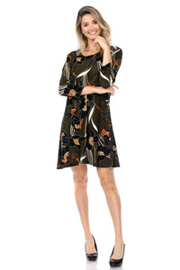 Jostar Women's Stretchy Missy Dress Quarter Sleeve Print, 704BN-QP-W239 - Jostar Online