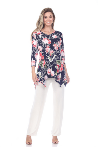 Jostar Women's HIT V-Neck Binding Top Half Sleeve Print, 313HT-QP-W251 - Jostar Online