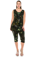 Load image into Gallery viewer, Jostar Women's Stretchy Tank Capri Set Sleeveless Plus Print, 902BN-TXP-W137