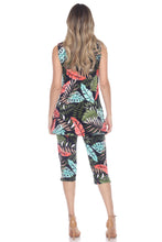 Load image into Gallery viewer, Jostar Women's Stretchy Tank Capri Pant Set Print, 902BN-TP-W212 - Jostar Online