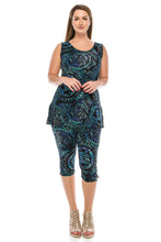 Load image into Gallery viewer, Jostar Women's Stretchy Tank Capri Pant Set Print, 902BN-TP-W014 - Jostar Online