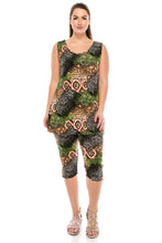 Load image into Gallery viewer, Jostar Women's Stretchy Tank Capri Pant Set Print, 902BN-TP-W045 - Jostar Online
