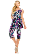 Load image into Gallery viewer, Jostar Women's Stretchy Tank Capri Pant Set Print, 902BN-TP-W195 - Jostar Online
