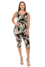 Load image into Gallery viewer, Jostar Women's Stretchy Tank Capri Set Sleeveless Plus Print, 902BN-TXP-W009 - Jostar Online