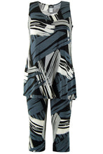Load image into Gallery viewer, Jostar Women's Stretchy Tank Capri Set Sleeveless Plus Print, 902BN-TXP-W037 - Jostar Online