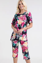 Load image into Gallery viewer, Jostar Women's Stretchy Capri Pant Set Short Sleeve Print-903BN-SRP1-W214