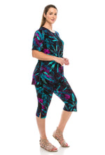 Load image into Gallery viewer, Jostar Women's Stretchy Capri Pants Set Short Sleeve Plus Print, 903BN-SXP-W101 - Jostar Online