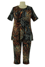 Load image into Gallery viewer, Jostar Women's Stretchy Capri Pant Set Short Sleeve Print, 903BN-SP-W207 - Jostar Online
