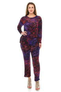 Jostar Women's Stretchy Long Sleeve Pants Set Long Sleeve Print, 929BN-LP-W001 - Jostar Online