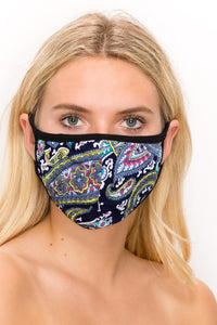 Print Standard Size 2 pk-ITY & Cotton 3 Layered Reversible Washable Face Mask - Jostar Online