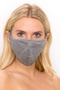 Standard Size 2 pk-Cotton 3 Layered Reversible Washable Face Mask - Jostar Online