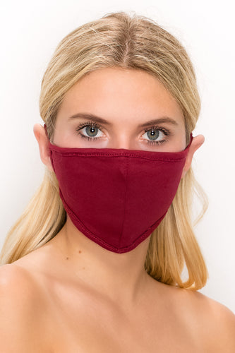 Standard Size 2 pk-Cotton Wrap Around 3 Layered Reversible Washable Face Mask - Jostar Online