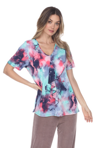 Jostar Women's  Cascade Drop Short Sleeve Top-356HT-SP-W252 - Jostar Online