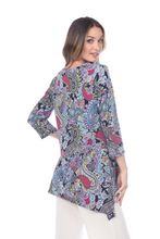 Load image into Gallery viewer, Jostar Women's HIT V-Neck Binding Top Half Sleeve Print, 313HT-QP-W222 - Jostar Online