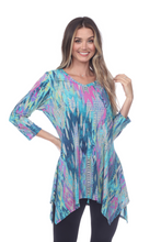 Load image into Gallery viewer, Jostar Women's HIT V-Neck Binding Top Half Sleeve Print-313HT-QRP1-W257
