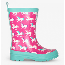 Load image into Gallery viewer, MYSTICAL UNICORNS SHINY RAIN BOOTS
