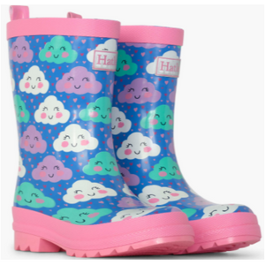 Cheerful Clouds Shiny Rain Boots