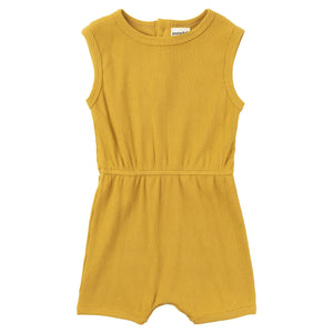 Ribbed Cotton Romper