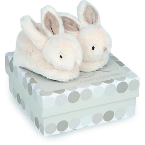 RATTLE BOOTIES +GIFT BOX 0-6 MONTHS