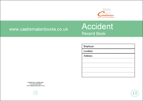 Accident Record Book (A5) A013