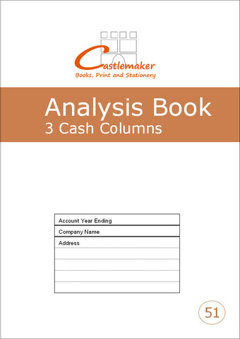 Analysis Book - 3 Cash Column (A4) A051