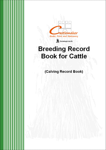 Breeding Record Book for Cattle / Calving Record Book (A4) B006