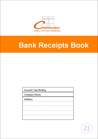 Bank Receipt Record Book (A4) B027