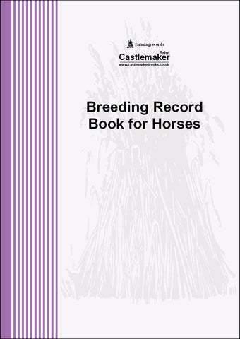 Breeding Record Book for Horses (A4) B032