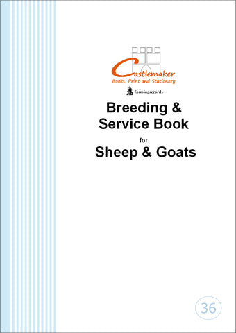 Breeding & Service Record Book for Sheep & Goats (A4) B036