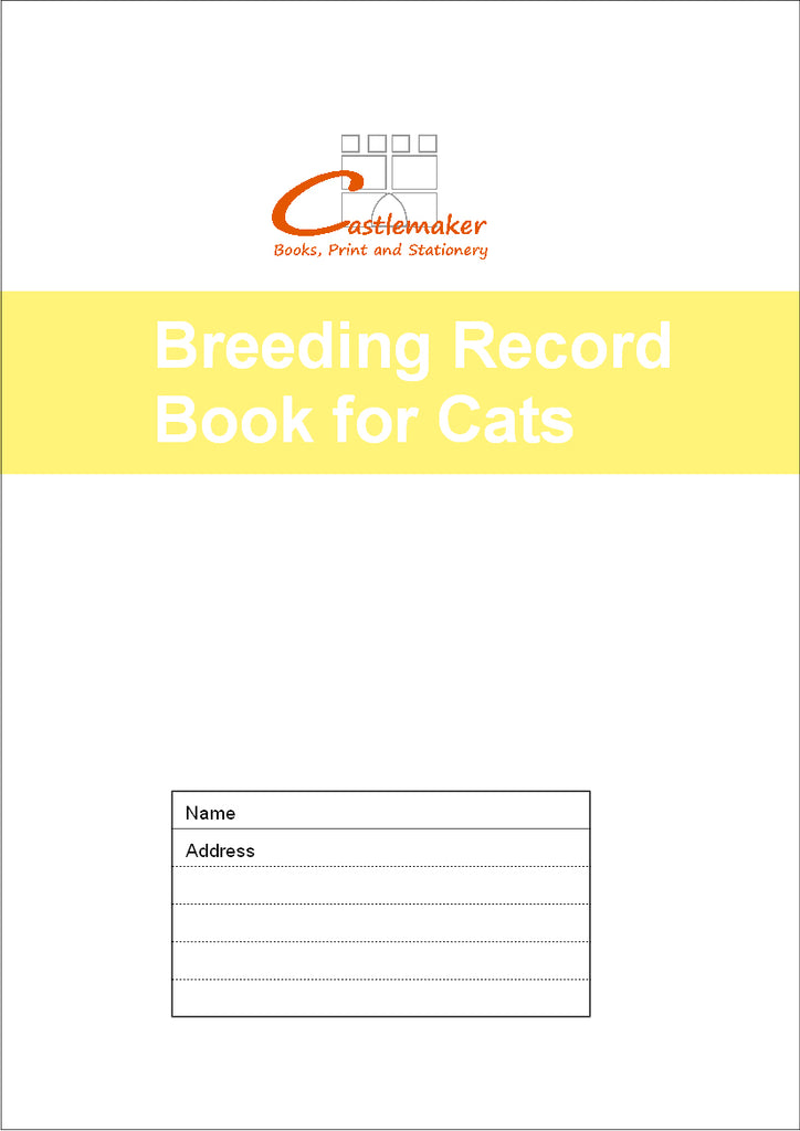 Breeding Record Book for Cats (A4) B072