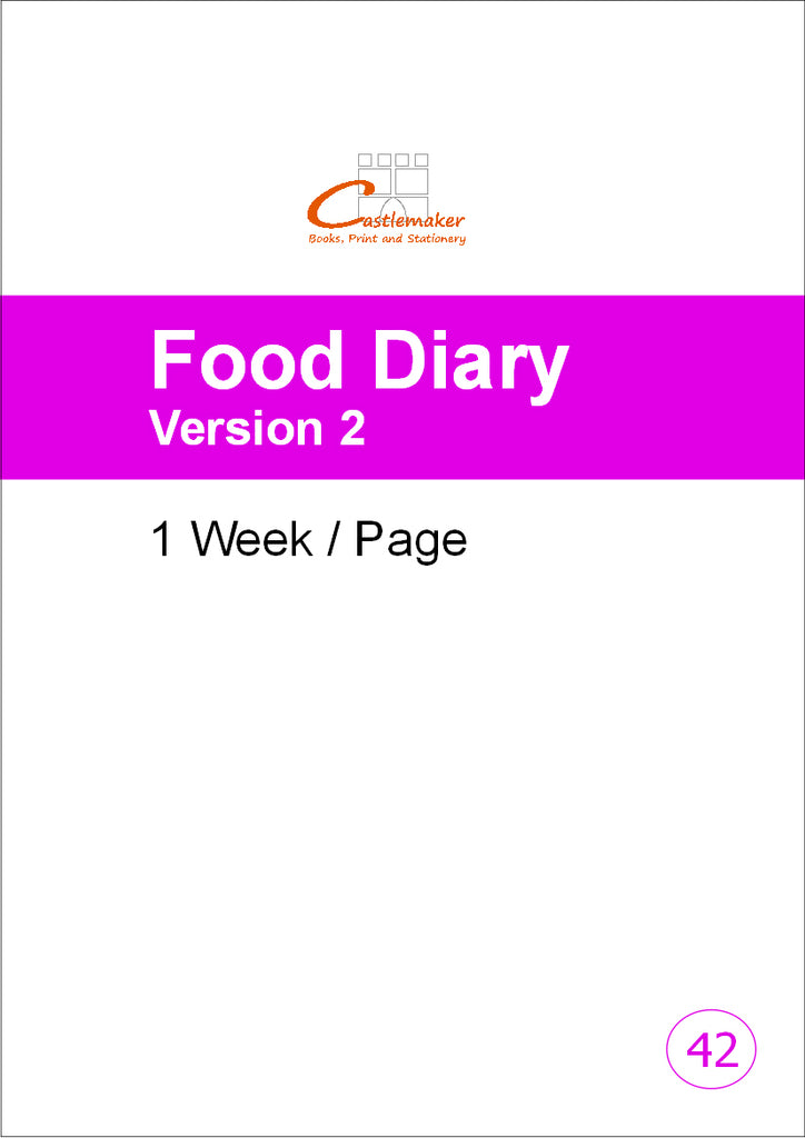 Food Diary: 1 Week/Page (A4) F042