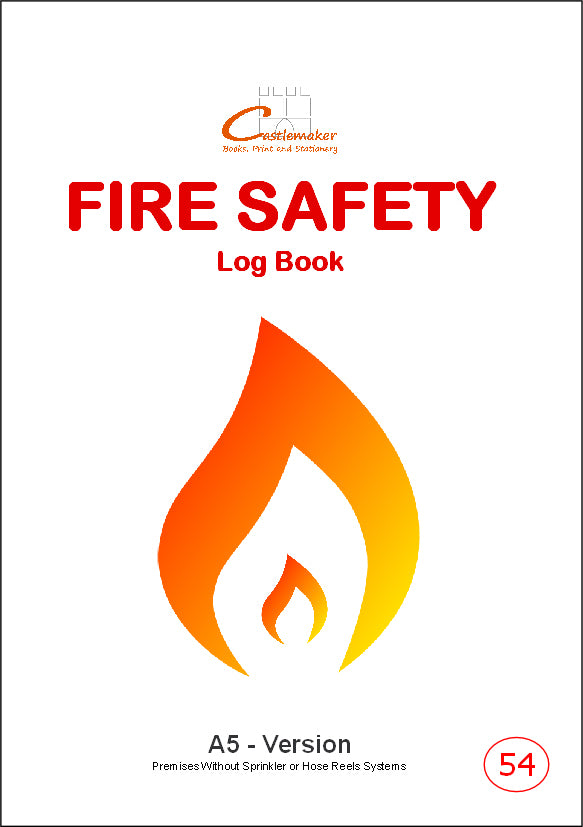 Personalised - Fire Safety Log Books (A5) - F054P (Packs of 10)