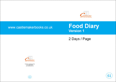 Food Diary (2 Days/Page) (A4) F061