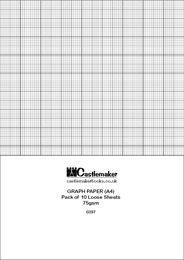 A4 Graph Paper: 1, 5 & 10mm square ruled: 100 GSM (10 Sheets)