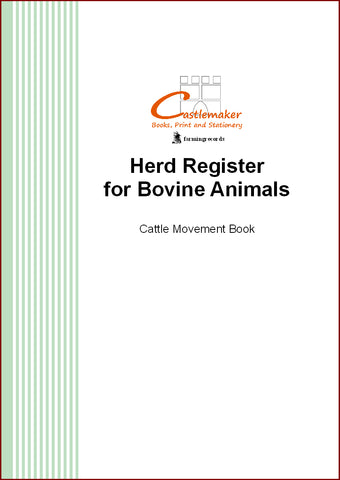 Herd Register for Bovine Animals / Cattle Movement Book (A4) M003
