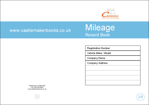 Mileage Record Book (A5) M014