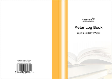 Meter Log Book (Gas/Electric/Water) (A5) M031