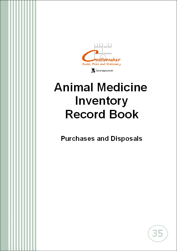 Animal Medicine Inventory Record Book (A5) M035