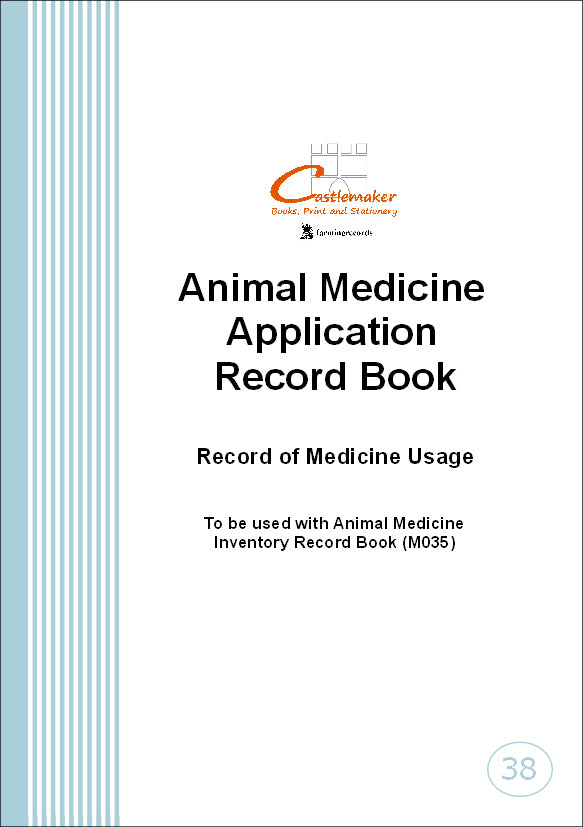 Animal Medicine Application Record Book (A5) M038