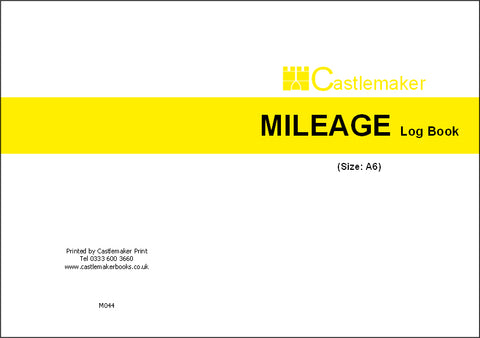 Mileage Log Book (A6) M044