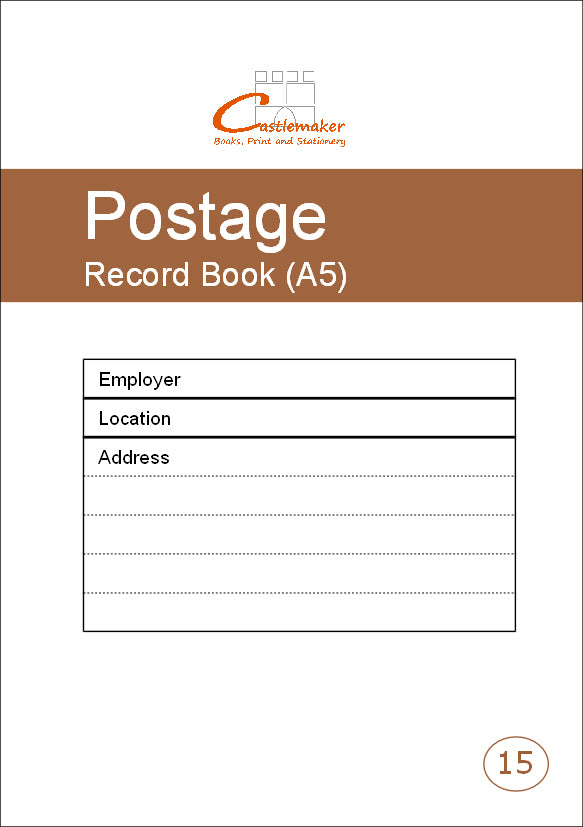 Postage Record Book (A5) P015