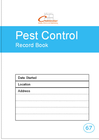Pest Control Record Book (A5) P067
