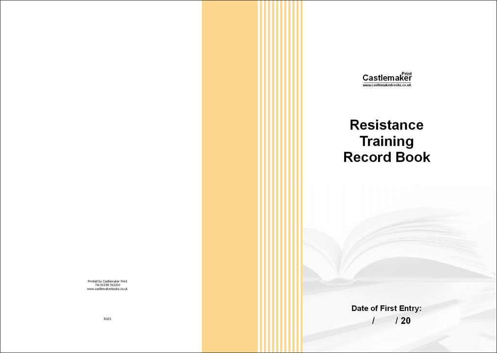 Resistance Training Record Book (A4) R023