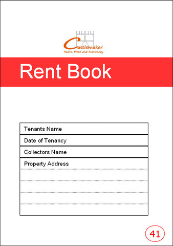 Rent Book: Tennant's Copy (A5) R041