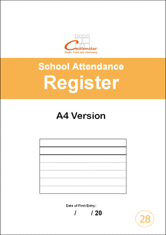 School Attendance Register - 32 Pages (A4) S028