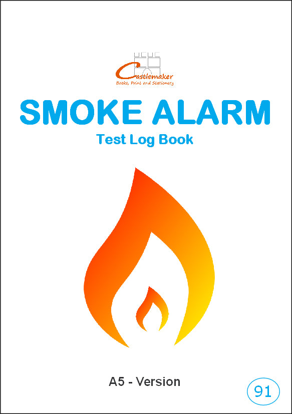 Smoke Detector Test Log Book (A5) S091