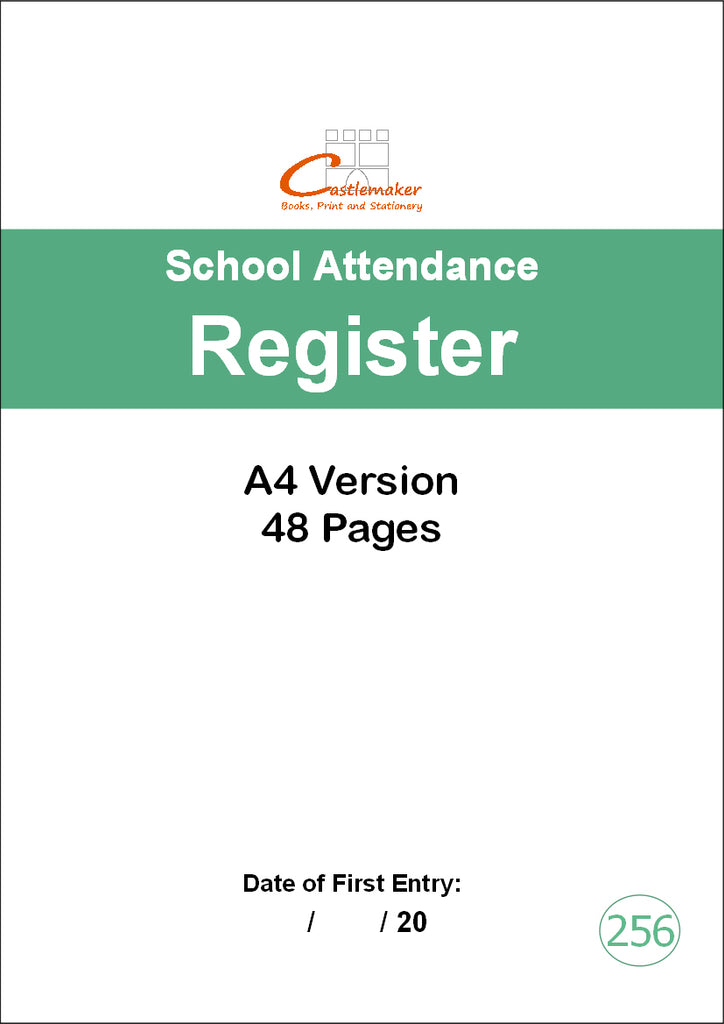School Attendance Register - 48 Pages (A4) S256