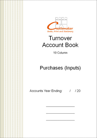 Turnover Account Book (A4) T008